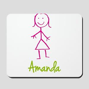 Amanda-cute-stick-girl Mousepad