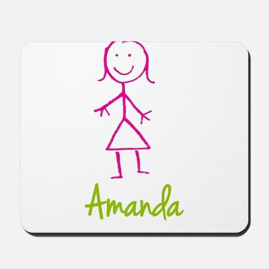 Amanda-cute-stick-girl.png Mousepad