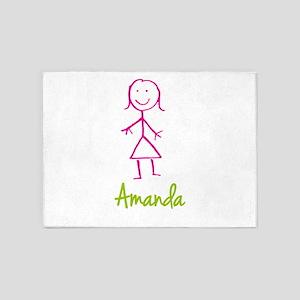 Amanda-cute-stick-girl 5'x7'Area Rug