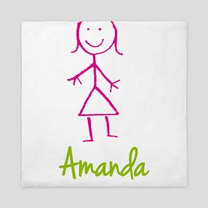 Amanda-cute-stick-girl Queen Duvet