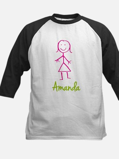 Amanda-cute-stick-girl.png Kids Baseball Jersey