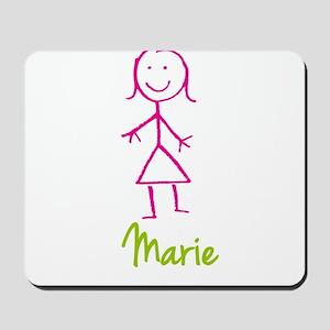 Marie-cute-stick-girl Mousepad