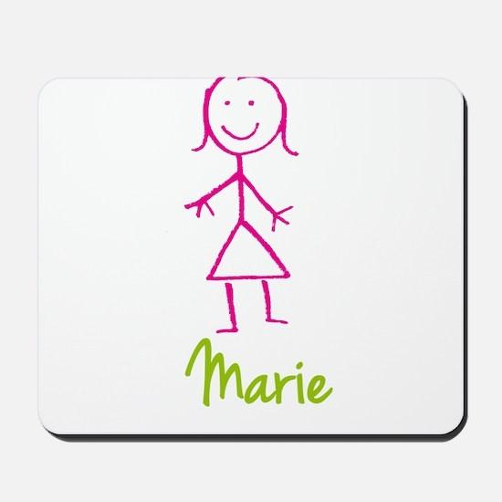 Marie-cute-stick-girl.png Mousepad