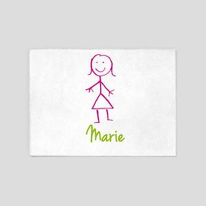 Marie-cute-stick-girl 5'x7'Area Rug