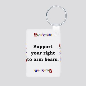 Support Your Right - Anonymous Aluminum Photo Keyc