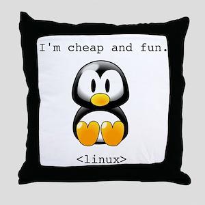 Linux - Cheap and Fun Throw Pillow