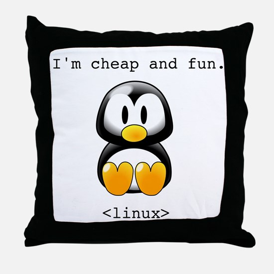 Linux - Cheap and Fun Throw Pillow