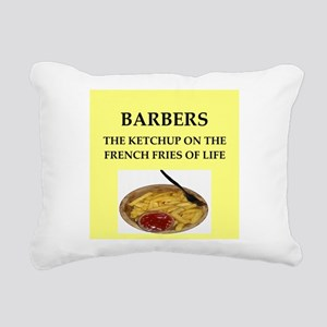 barber Rectangular Canvas Pillow