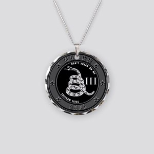 Don't Tread On Me Necklace Circle Charm