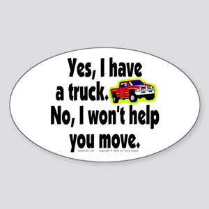 Yes/No Truck. Oval Sticker