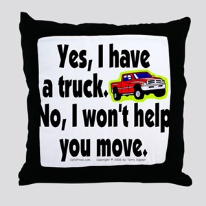 Yes/No Truck. Throw Pillow