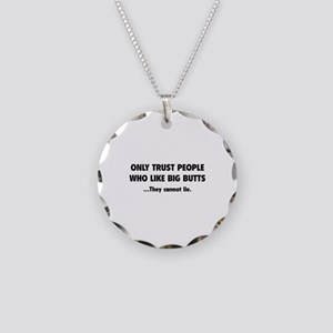 Only Trust People Necklace Circle Charm