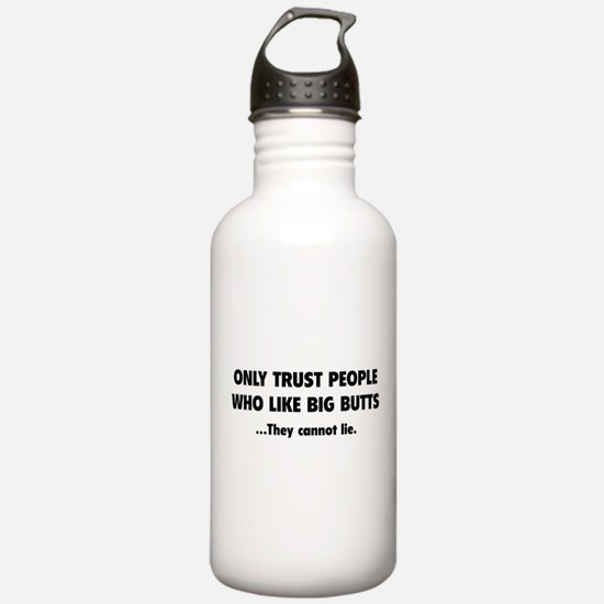 Only Trust People Water Bottle