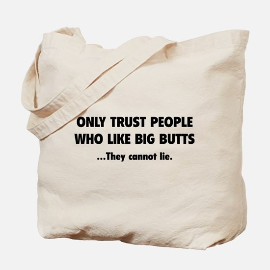 Only Trust People Tote Bag