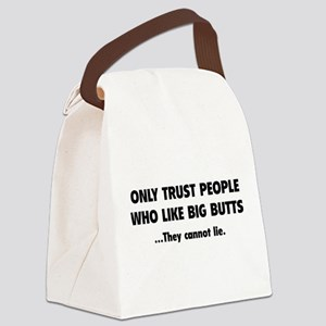 Only Trust People Canvas Lunch Bag