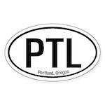 Portland, Oregon Oval Sticker