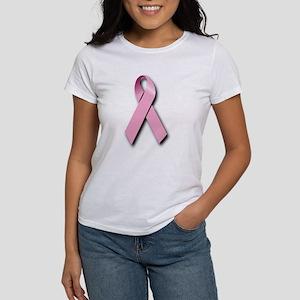 Pink Ribbon (front & back) Women's T-Shirt