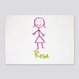 Rosa-cute-stick-girl 5'x7'Area Rug