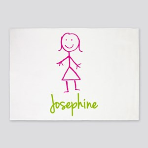 Josephine-cute-stick-girl 5'x7'Area Rug