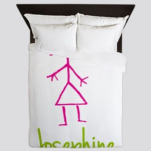 Josephine-cute-stick-girl Queen Duvet