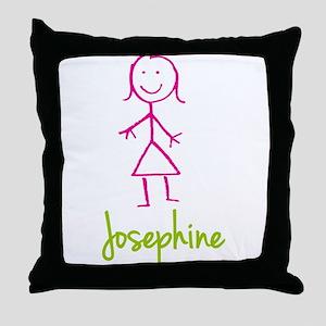 Josephine-cute-stick-girl Throw Pillow