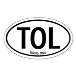 Toledo, Ohio Oval Sticker