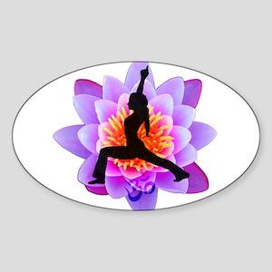 Lotus Yogini Rectangle Sticker