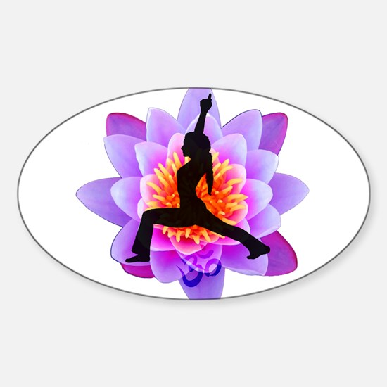 Lotus Yogini Rectangle Decal