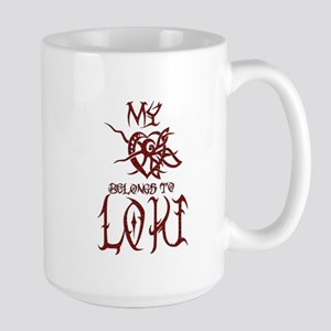 My Heart Belongs to Loki Large Mug