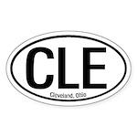 Cleveland, Ohio Oval Sticker