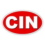 Cincinnati, Ohio Oval Sticker