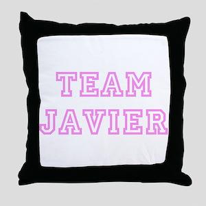 Pink team Javier Throw Pillow