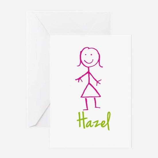 Hazel-cute-stick-girl.png Greeting Card