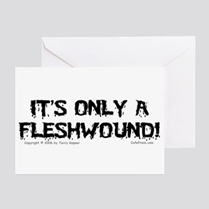 Edgy greeting cards cafepress fleshwound black greeting cards pk of 10 m4hsunfo Images
