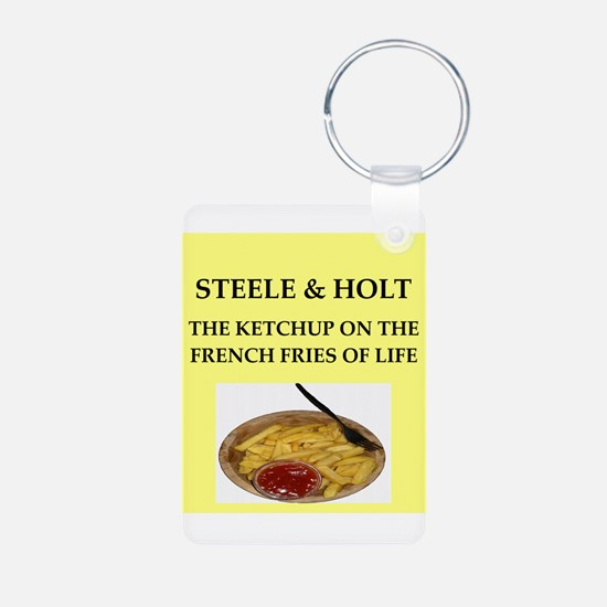 steele and holt Keychains