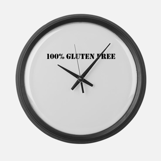100 % GLUTEN FREE Large Wall Clock