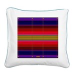 Indian Blanket Print Square Canvas Pillow