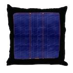 Blue Denim Dark Throw Pillow