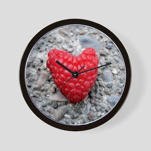 Raspberry Heart Wall Clock