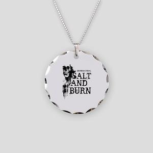 Salt And Burn Necklace Circle Charm