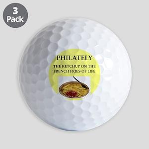 stamp collecting Golf Balls