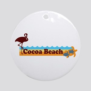 Cocoa Beach - Beach Design. Ornament (Round)