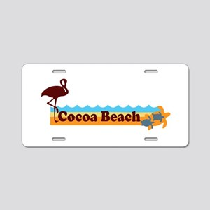 Cocoa Beach - Beach Design. Aluminum License Plate
