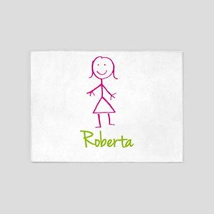 Roberta-cute-stick-girl 5'x7'Area Rug