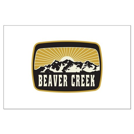 Beaver Creek Sunshine Patch Large Poster