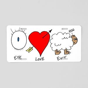 Eye Heart Ewe Aluminum License Plate