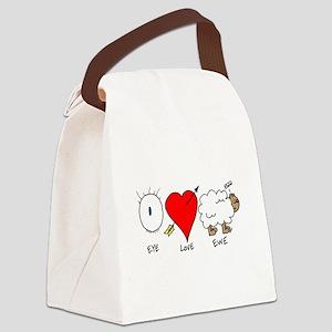 Eye Heart Ewe Canvas Lunch Bag
