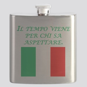 Italian Proverb Patience Flask