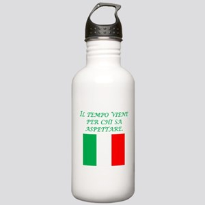 Italian Proverb Patience Stainless Water Bottle 1.