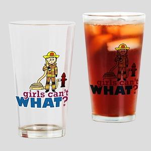 Firefighter Girls Drinking Glass